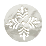 White Mother of Pearl Fern Disc