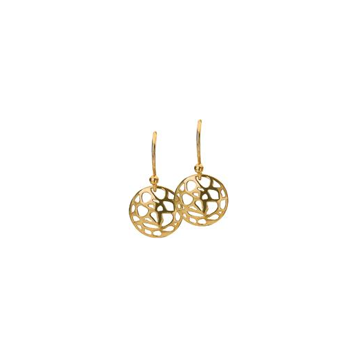 Virtue Keepsake 12mm Gold Abstract Disc Earrings