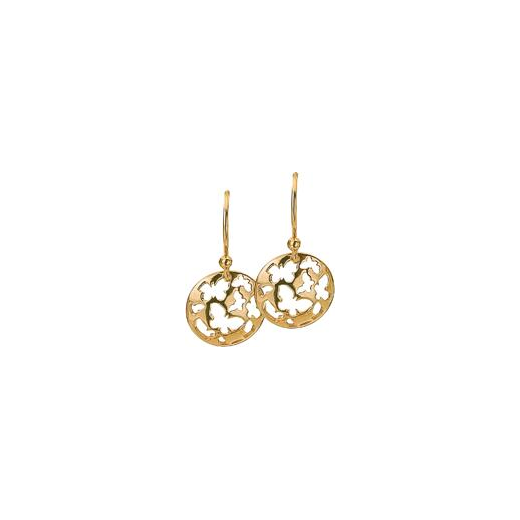 Virtue Keepsake 12mm Gold Butterfly Disc Earrings