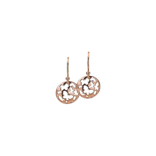 Virtue Keepsake 12mm Rose Gold Butterfly Disc Earrings