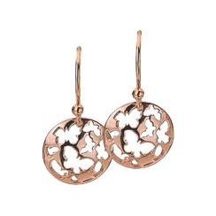 12mm Rose Gold Butterfly Disc Earrings