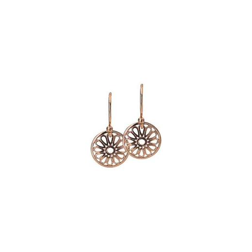 Virtue Keepsake 12mm Rose Gold Flower Disc Earrings