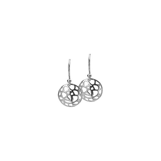 Virtue Keepsake 12mm Silver Abstract Disc Earrings