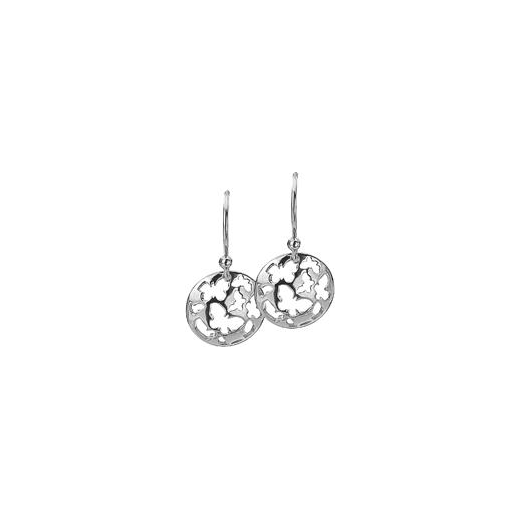 Virtue Keepsake 12mm Silver Butterfly Disc Earrings