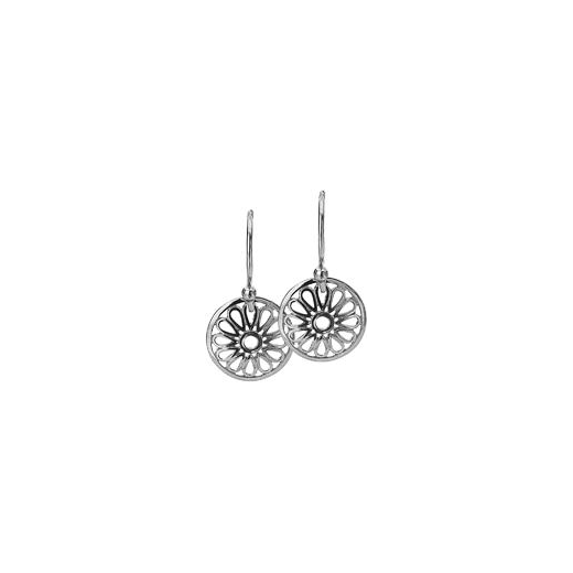 Virtue Keepsake 12mm Silver Flower Disc Earrings