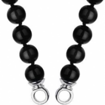 60cm Black Agate Necklace
