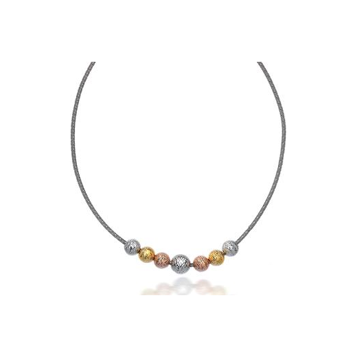 Virtue Exquisite Diamond Cut Bead Necklace