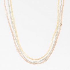 Mesh 3 Strand Necklace with crystals