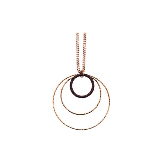 Virtue Exquisite Rose Gold Triple Circle Necklace