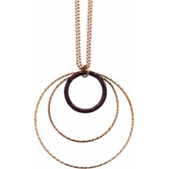 Rose Gold Triple Circle Necklace