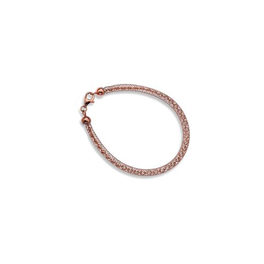 Virtue Exquisite Rose Gold Woven Crystal Mesh Bracelet