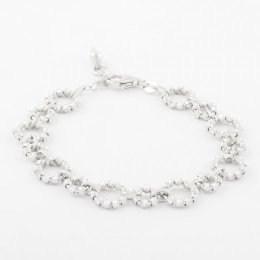 Virtue Exquisite Beaded Circle Link Bracelet