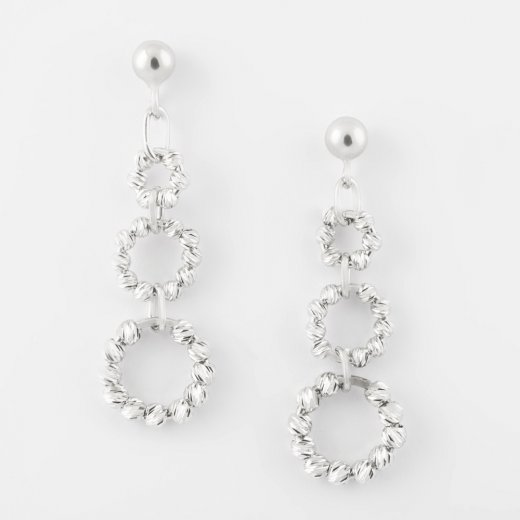 Virtue Exquisite Beaded Circle Link Earrings