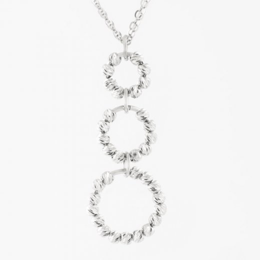 Virtue Exquisite Beaded Circle Link Necklace