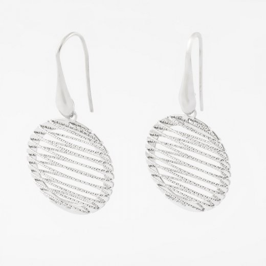 Virtue Exquisite Circle Diamond Cut Wire Wrap Earrings