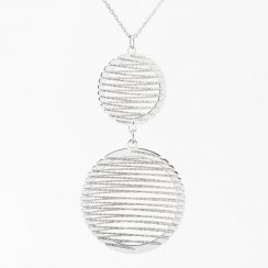 Circle Diamond Cut Wire Wrap Necklace