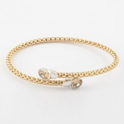 Cross Over Precious Citrine Bangle