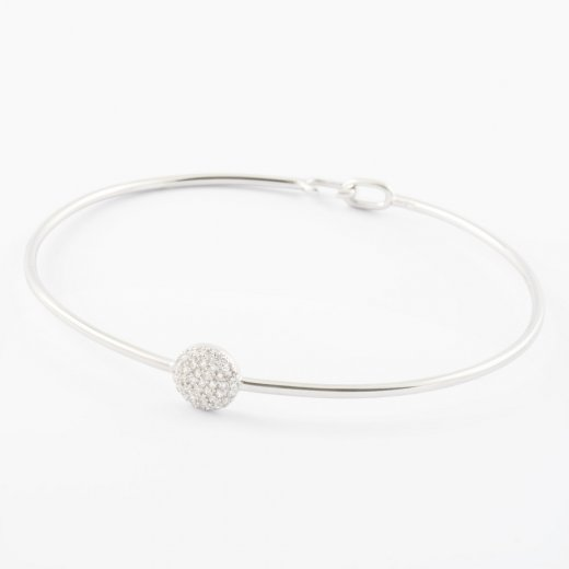 Virtue Exquisite CZ Circle Skinny Bangle