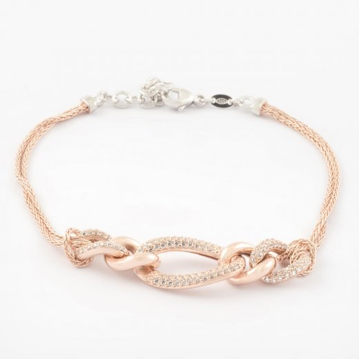 CZ Link Chain Statement Bracelet