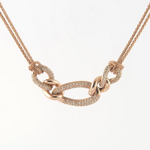 Virtue Exquisite CZ Link Chain Statement Necklace