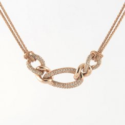 CZ Link Chain Statement Necklace