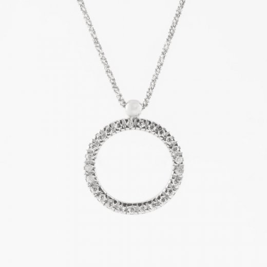 Virtue Exquisite Cz Open Circle Necklace