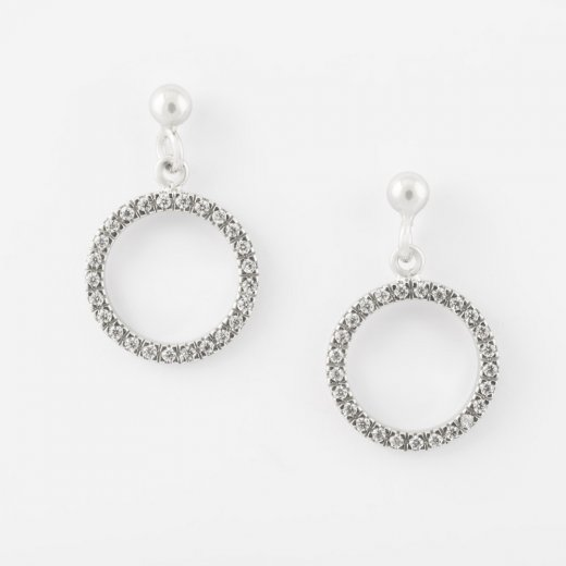 Virtue Exquisite CZ Round Open Circle Earrings