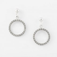 CZ Round Open Circle Earrings