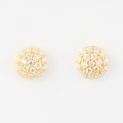 Virtue Exquisite CZ Round Stud Earrings