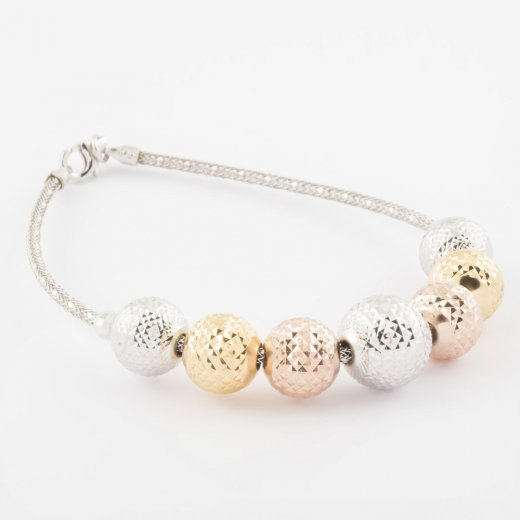 Virtue Exquisite Diamond Cut Bead Bracelet