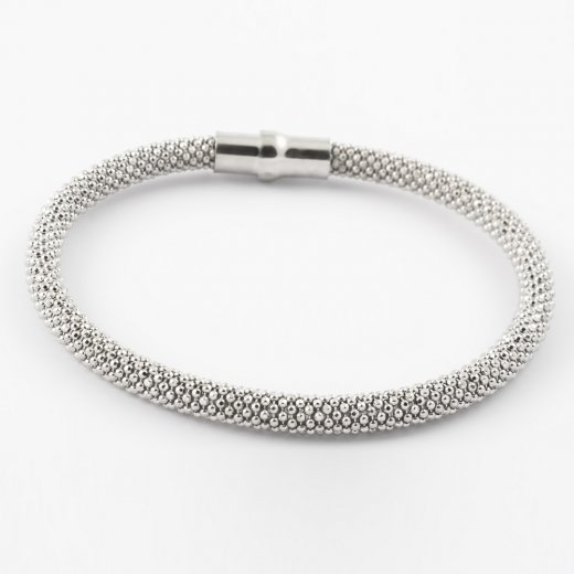 Virtue Exquisite Diamond-cut Bead Magnetic Bangle