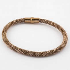 Diamond-cut Bead Magnetic Bangle