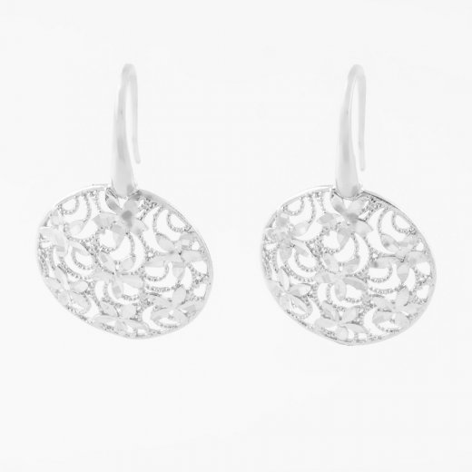Virtue Exquisite Diamond Cut Disc Earrings