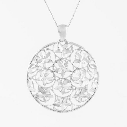 Virtue Exquisite Diamond Cut Disc Necklace