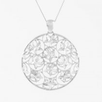 Diamond Cut Disc Necklace