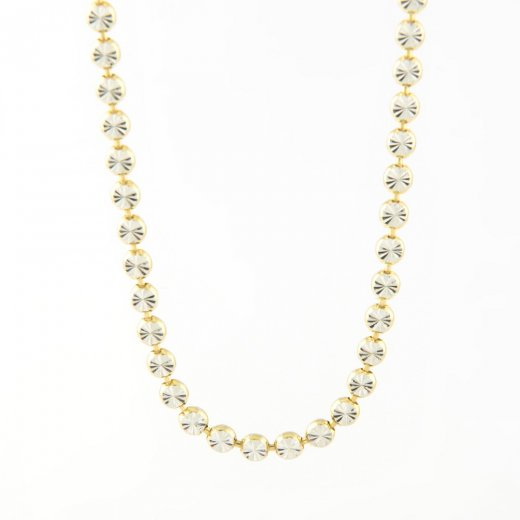 Virtue Exquisite Diamond Cut Mini Disc Necklace