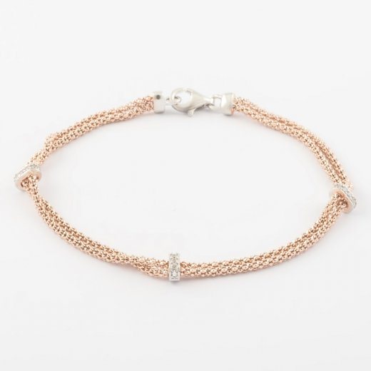 Virtue Exquisite Double Chain CZ Bracelet