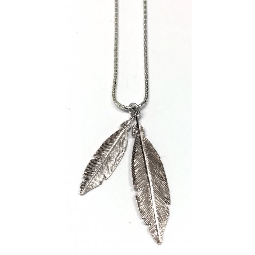 Virtue Exquisite Double Feather Necklace