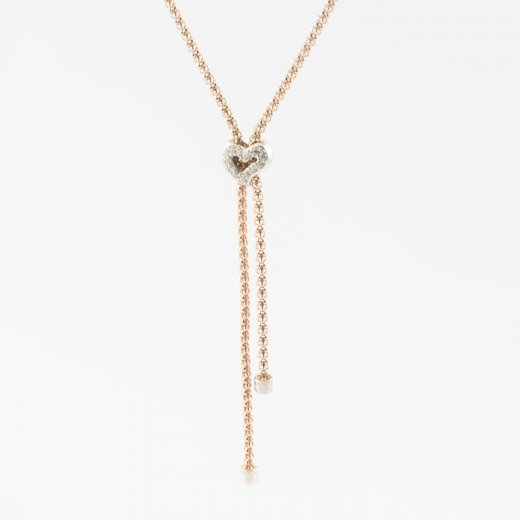 Virtue Exquisite Double Strand Heart Necklace