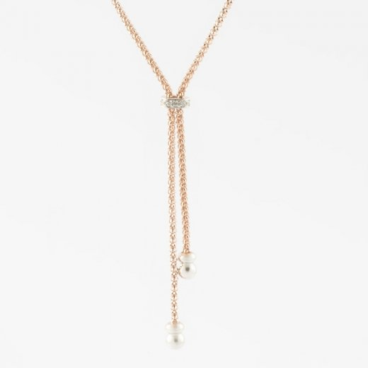 Virtue Exquisite Double Strand Rose Necklace