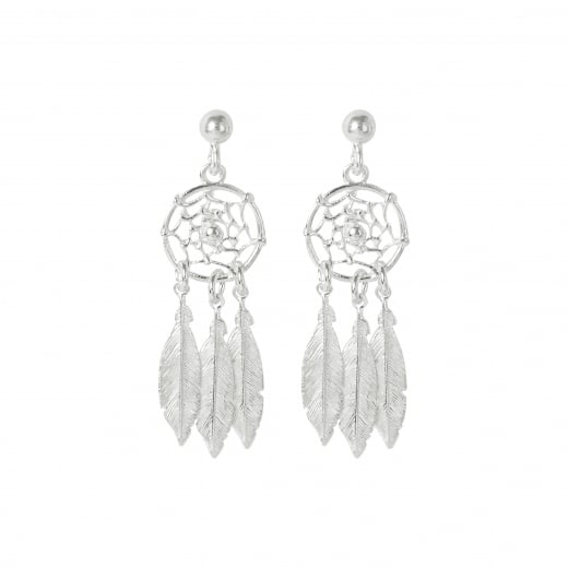 Virtue Exquisite Dream catcher Feather Drop Earrings
