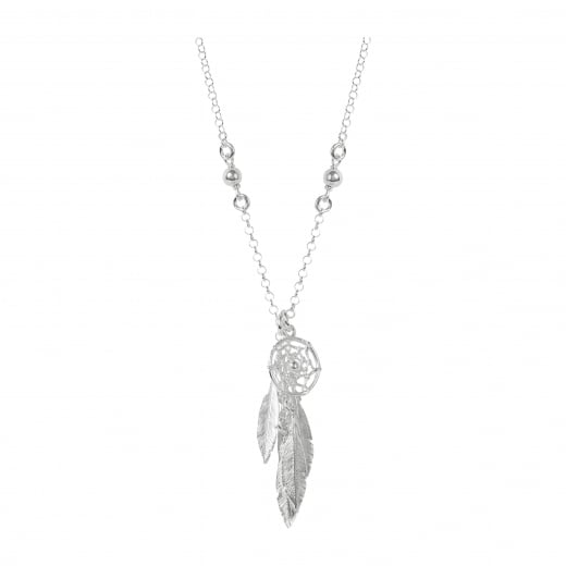 Virtue Exquisite Dream catcher Feather necklace on long chain