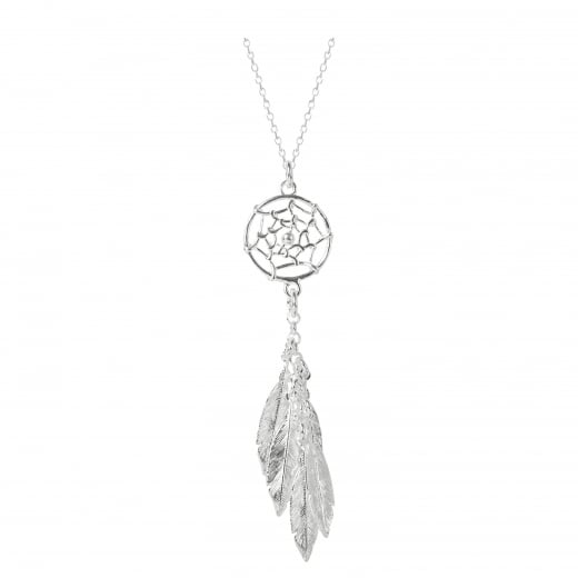 Virtue Exquisite Dream catcher Feather necklace on short chain