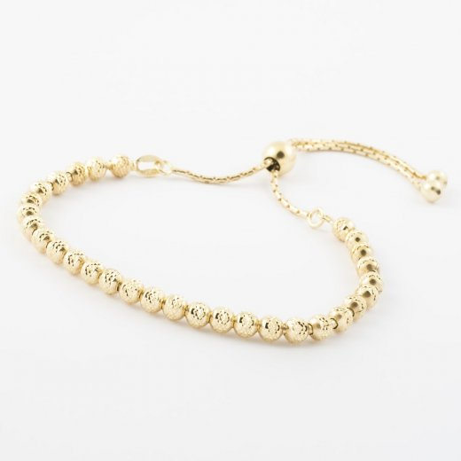Virtue Exquisite Faceted Ball Adjustable Bead Bracelet