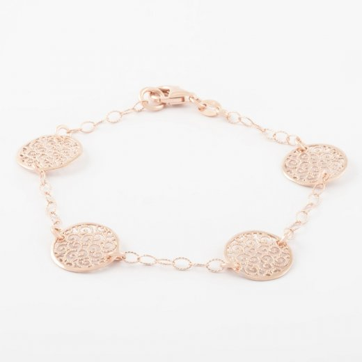 Virtue Exquisite Filigree Disc Bracelet