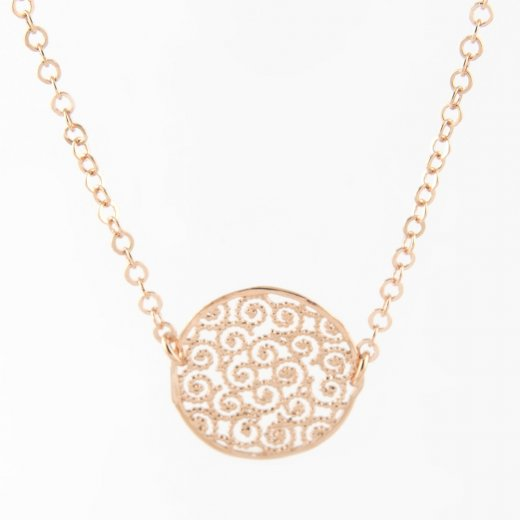 Virtue Exquisite Filigree Disc Necklace