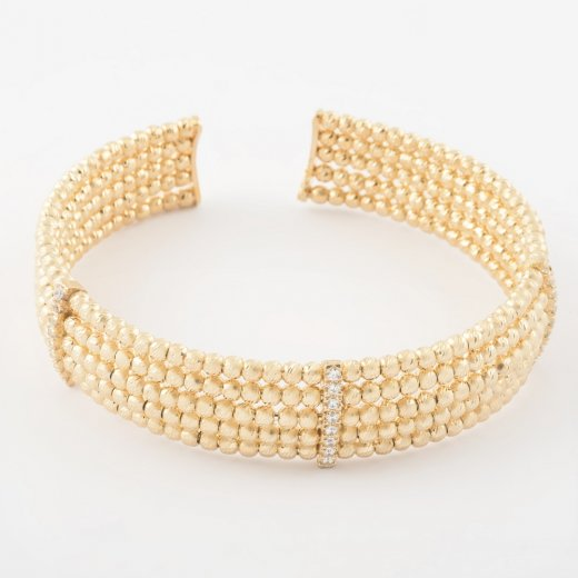 Virtue Exquisite Five Row Bead Bangle