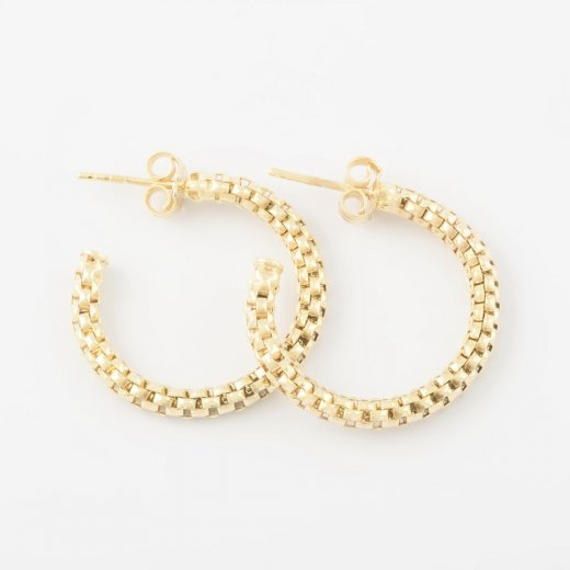 Virtue Exquisite Gold Coreana Hoop Earrings