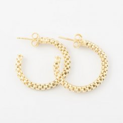 Gold Coreana Hoop Earrings