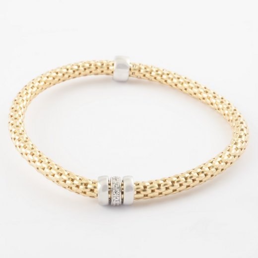 Virtue Exquisite Gold Coreana Triple Ring Bangle